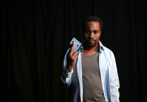 Marty Kintu as Lincoln in Topdog Underdog. (Photo: Nardus Engelbrecht.)