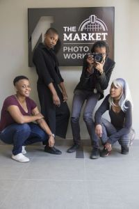 Pictured here are the four young women photographers tasked with visually capturing the conference (from left): Tshepiso Mabula; Tshepiso Mazibuko; Jabilile Hlanze; and Remofiloe Sebobe. Picture: PHUMZILE NKOSI.