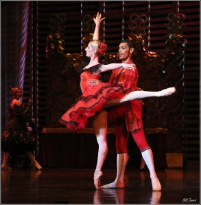 Joburg Ballet's Shana Dewey & Revil Yon in La Traviata Act III. Photo by Bill Zurich.