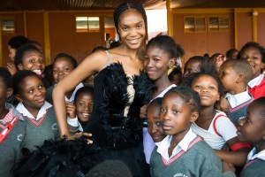 Joburg Ballet Senior Soloist Kitty Phetla on a School Visit. Photo by Lauge Sorensen.