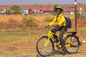 Qhubeka Recipient on his way to school