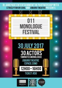 011 Monologue Festival at Joburg Theatre