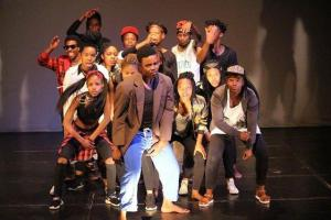 The cast of Hani - a play workshopped by students at the Market Theatre Laboratory.