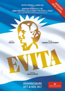 Lloyd-Webber and Rice's EVITA comes to Johannesburg and Cape Town