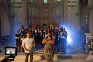 Justin Nanak and Thandeka Dube-Ndhlovu with the Kwa Thintwa School for the Deaf
