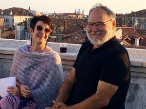 Jo-Anne Richards and Richard Beynon of All About Writing in Venice.