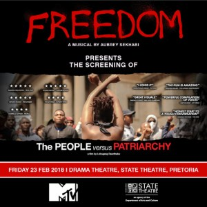 FREEDOM The Musical hosts a People vs Patriarchy screening