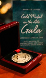 The Gold Medal In The Arts awarded by the Kennedy Center International Committee.