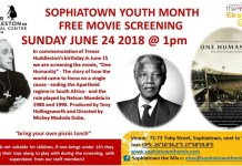 Sophiatown Youth Month free movie screening