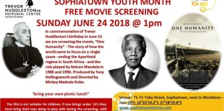 Sophiatown Youth Month free movie screening