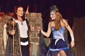 PE amateur theatre director Lesley Barnard with her daughter Gemma in The Tempest.