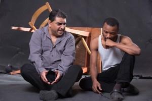 Into The Grey: Ashwin Singh and Menzi Mkhwane. Pic: Val Adamson