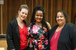 Co-Founders of the Lady Day Big Band: Amanda Tiffiin, Lana Crowster & Kelly Bell