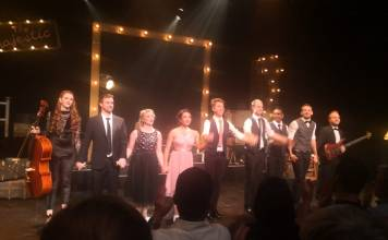Curtain call - the cast of My Favourite Things (Photo: Renos Spanoudes)