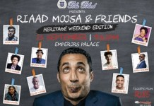 Riaad Moosa & Friends Heritage Weekend Edition