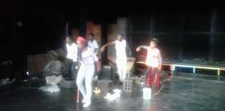 Tinqo The Piper in rehearsal at Sibikwa Art Centre.