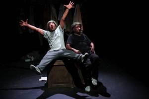 Mbongeni Ngema and Percy Mtwa, reprise their original roles in Woza Albert!