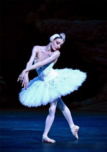 Anais Chalendard as Odette in Swan Lake. Photo Alice Pennefather