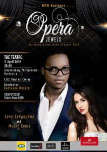Opera Jewels, a showcase of South African opera singers working internationally.