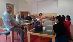 Michael Smorenburg facilitates a workshop at Tokai library for the #Writingmycity project
