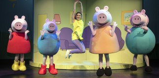 In the live show, a new and welcome addition to the world of 'Peppa Pig' is human friend, Anna, played by local actress Ashleigh Butcher. Photo: Catherine Kotze / SASPA