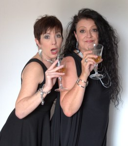 Tonya Koenderman and sassy saxophonist/pianist, Connie Bentlage, in their hilarious comedy cabaret, Growing Old Disgracefully