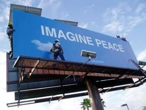 Imagine Peace Billboard 1