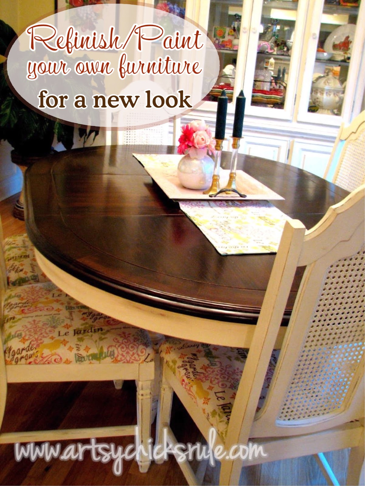China Cabinet and Dining Table ReNew  Artsy Chicks Rule