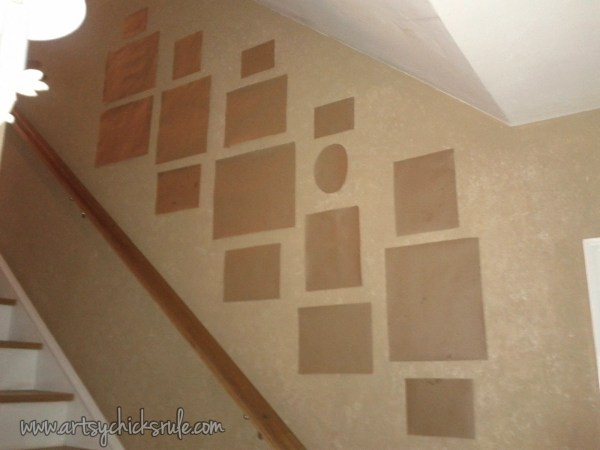 Gallery Wall Template Stairs