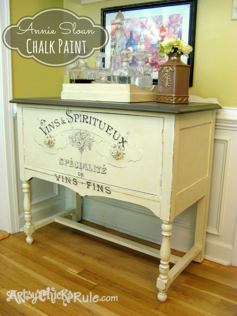 Antique Sideboard Makeover - Chalk Paint-Graphics