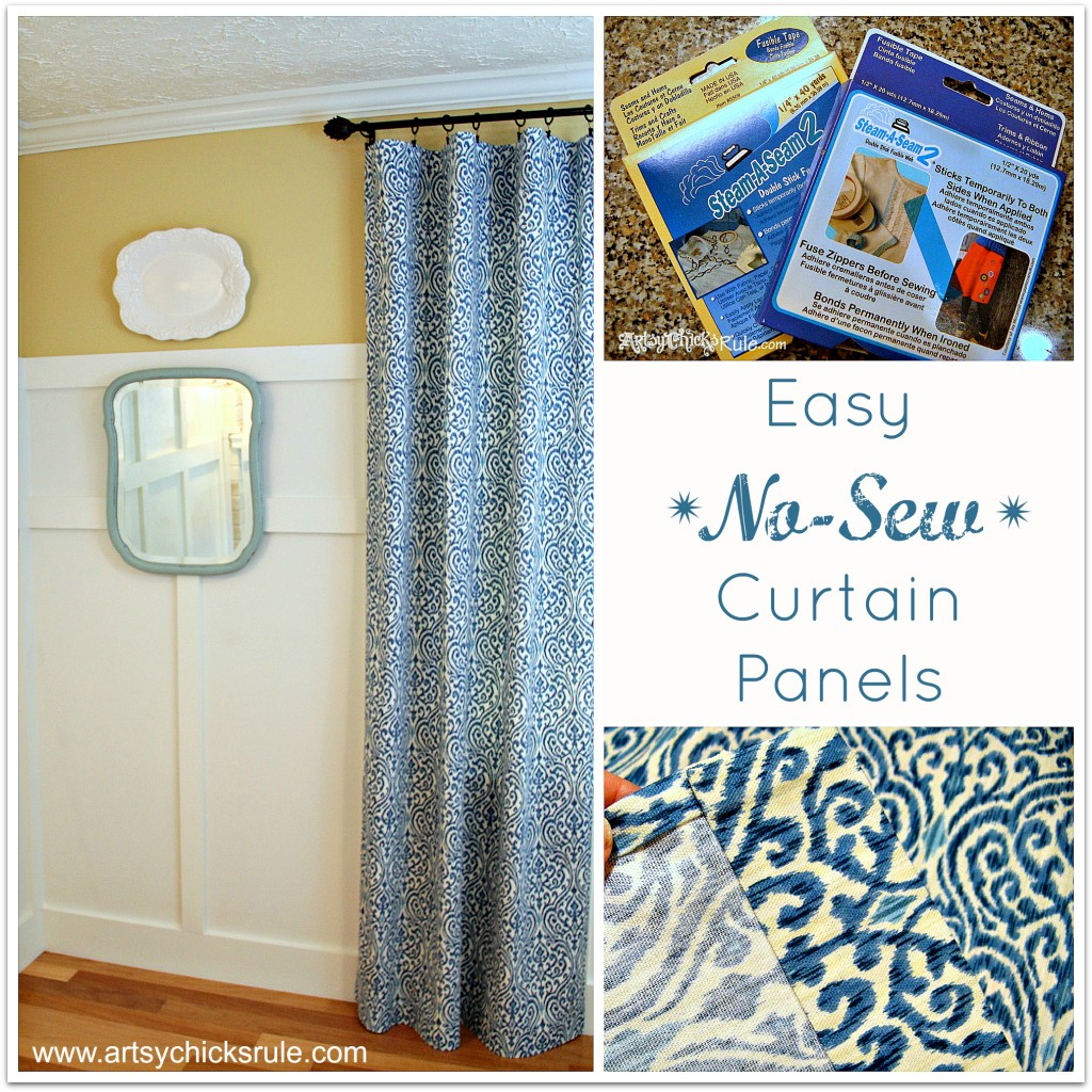 Easy No Sew Curtain Panels Artsy Chicks Rule®