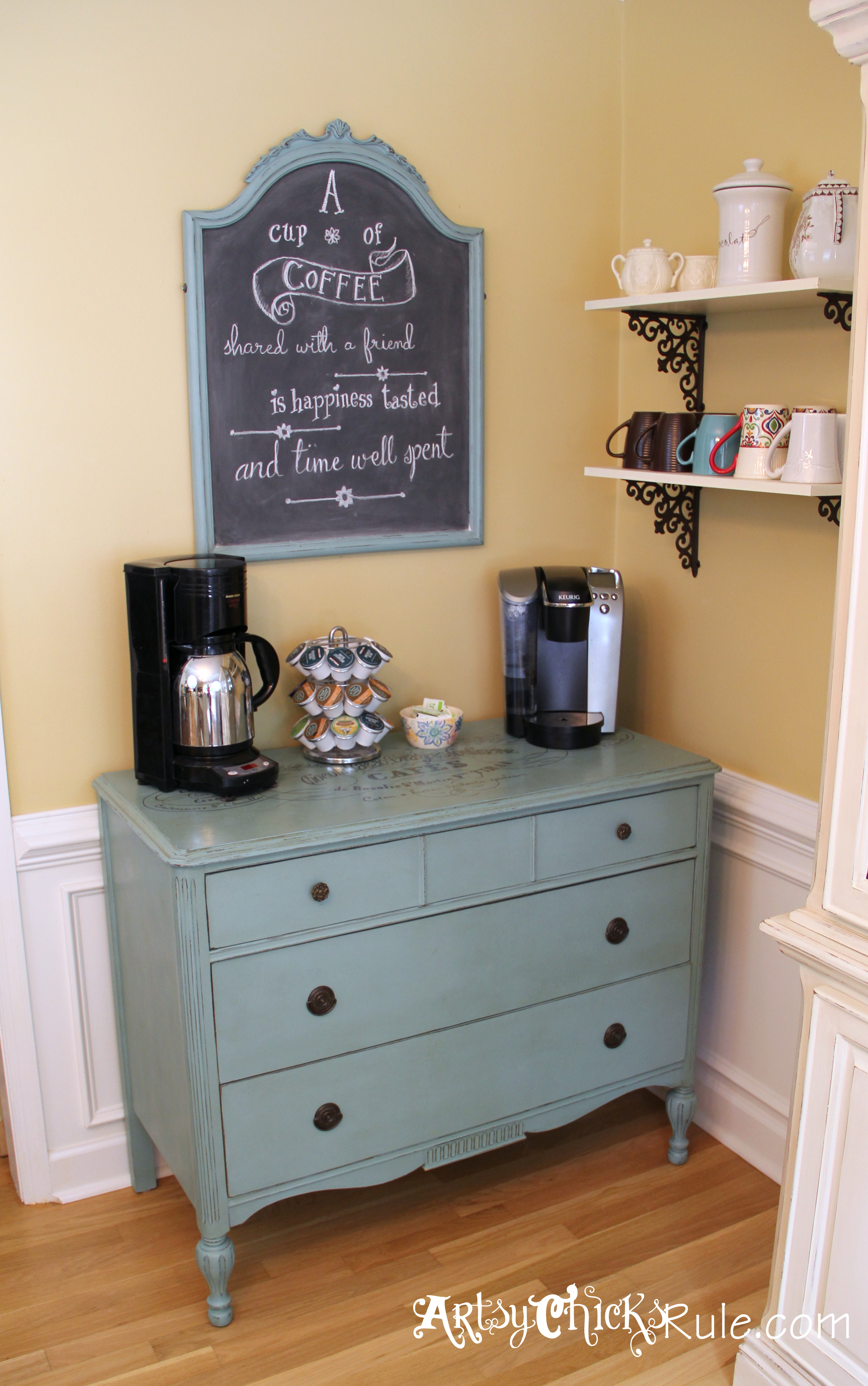 coffee bar in kitchen cost of renovating a quotcoffee quot server w shelves it moved artsy chicks rule