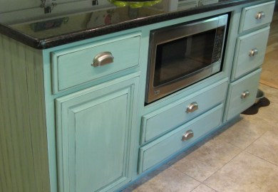 Kitchen Cabinet Doors Blue