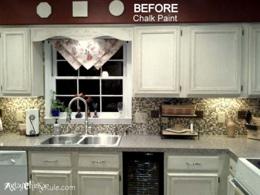 Kitchen Cabinet Makeover With Chalk Paint Artsysrule Com Kitchencabinetmakeover Chalkpaint