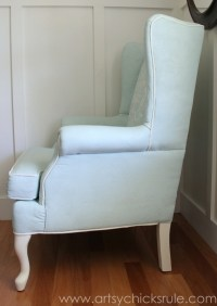 Painted Upholstered Chair Makeover (Chalk Paint) - Artsy ...