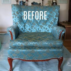 French Provincial Adele Occasional Chair Plastic Pool Lounge Chairs Thrifty Makeover Annie Sloan Chalk Paint Artsy With Before Artsychicksrule Com Paintedupholstery Chalkpaint Paintingupholstery