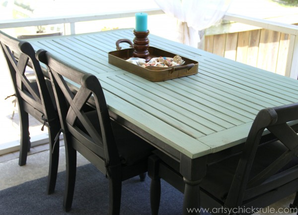 patio chair repair office covers near me rescued table re-do (duck egg blue chalk paint) - artsy chicks rule®
