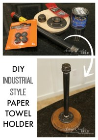 Industrial Style DIY Paper Towel Holder (Power Drill