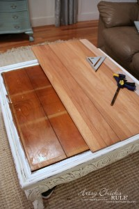 Coffee Table Makeover (Driftwood Finish) - Artsy Chicks Rule