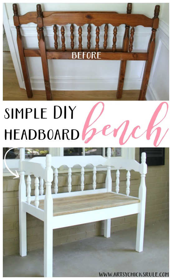 diy headboard bench super easy