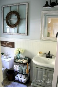 Coastal Farmhouse Bath Reveal - Artsy Chicks Rule