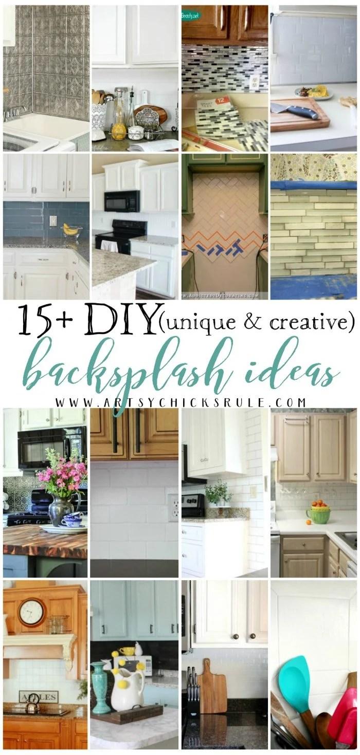 unique creative diy backsplash ideas