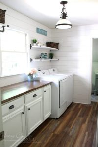 How To Make A DIY Wood Countertop - Artsy Chicks Rule