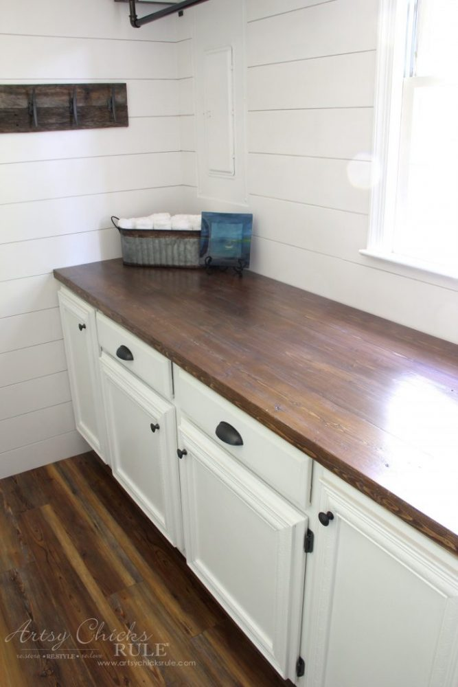wood countertops kitchen cabinets paint how to make a diy countertop easier than you thought artsy full view artsychicksrule