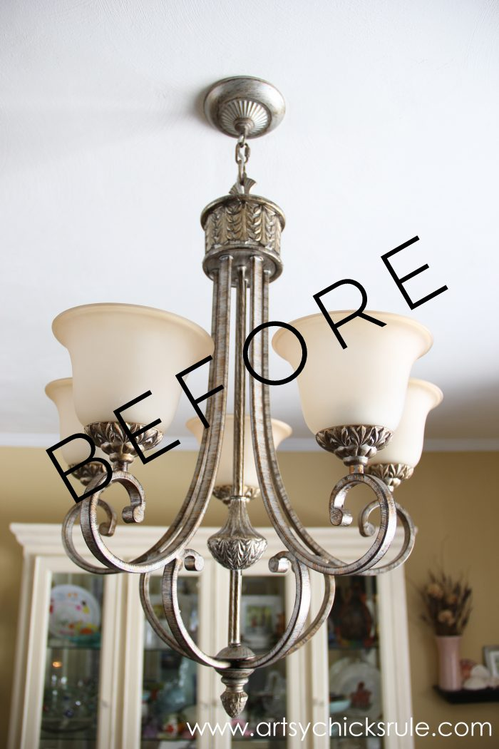 How To Paint Light Fixtures Update Without Taking Them