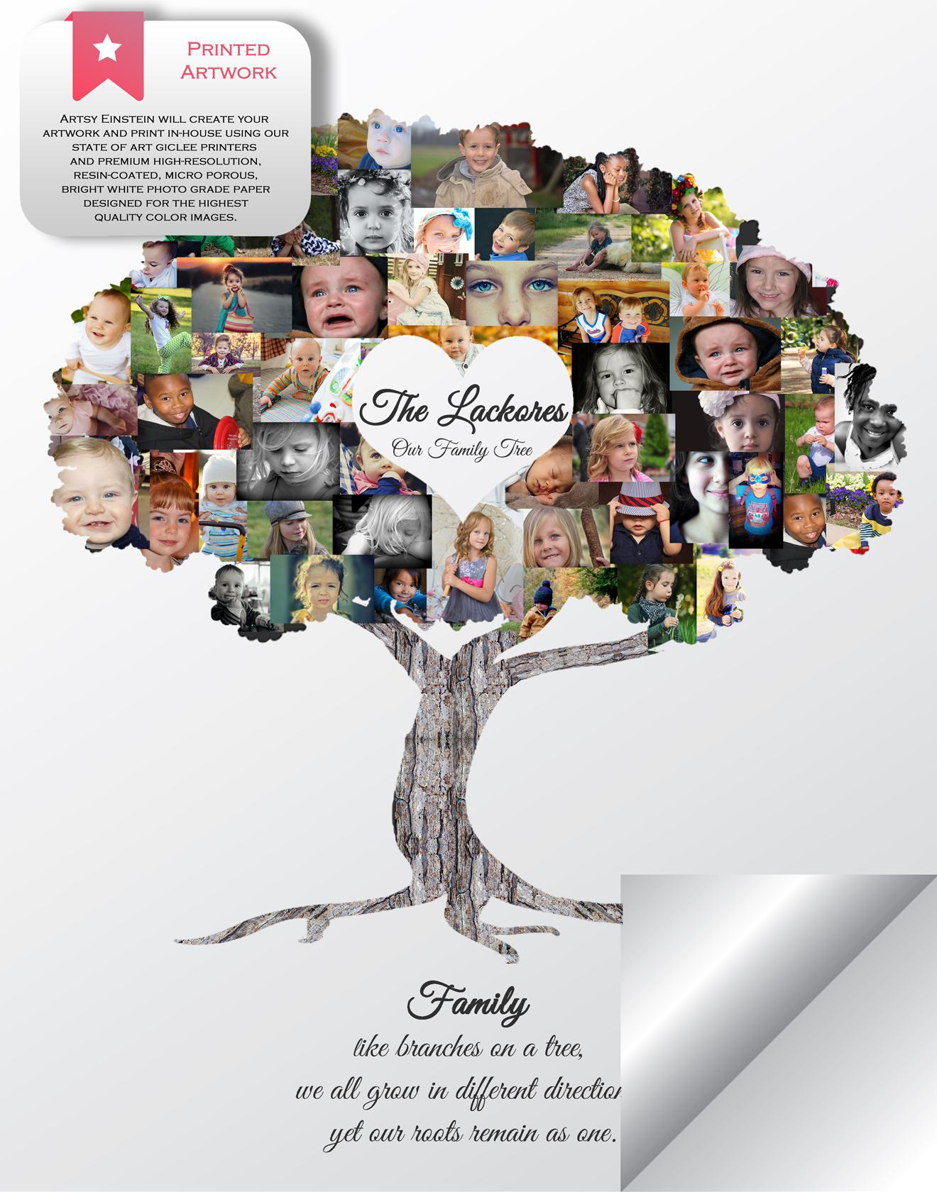 family tree photo collage