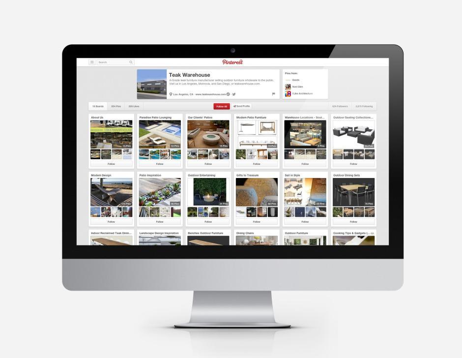 Teak Warehouse Pinterest Optimization