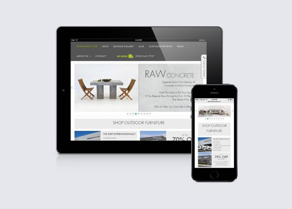 Teakwarehouse mobile device display