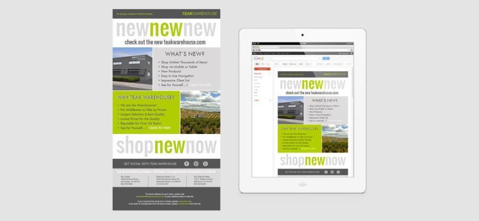Teak Warehouse Newsletters