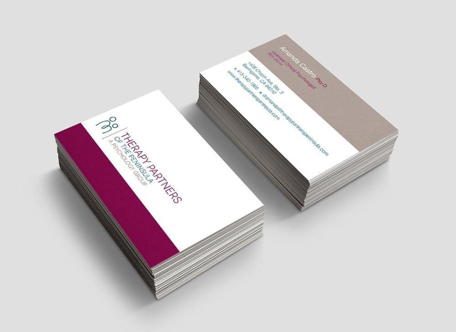 TPOP business card design